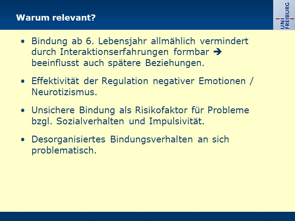 Effektivität der Regulation negativer Emotionen / Neurotizismus.