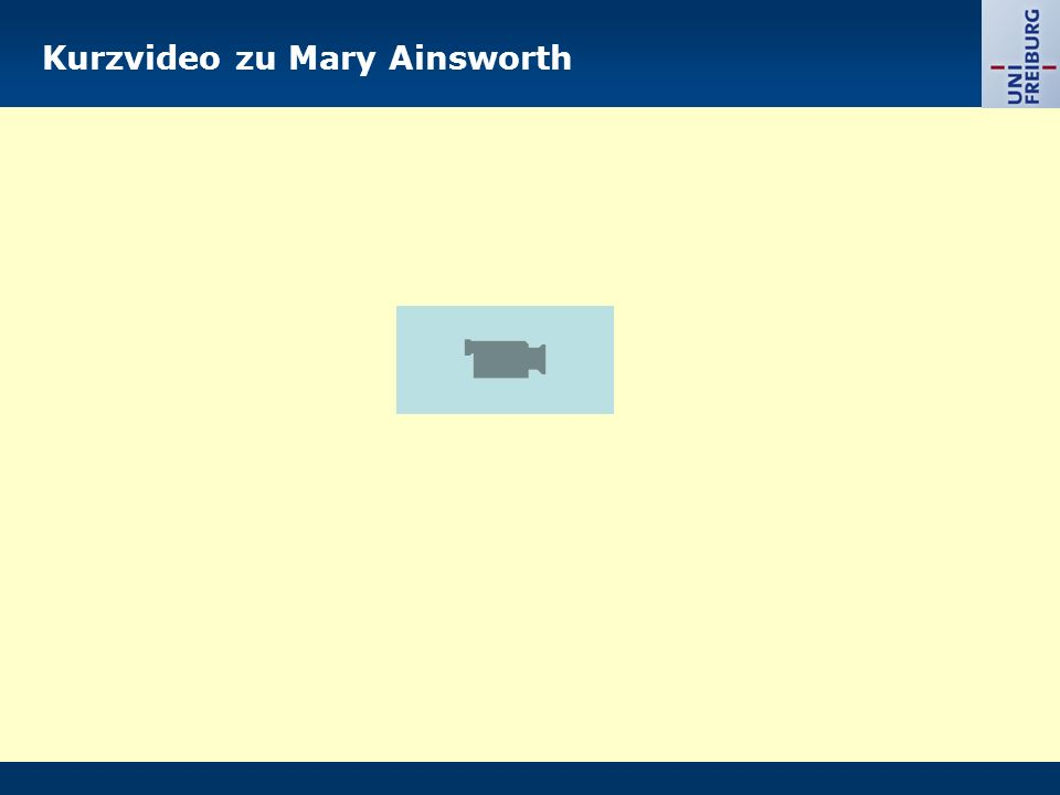 Kurzvideo zu Mary Ainsworth
