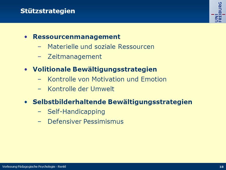 Ressourcenmanagement Materielle und soziale Ressourcen Zeitmanagement