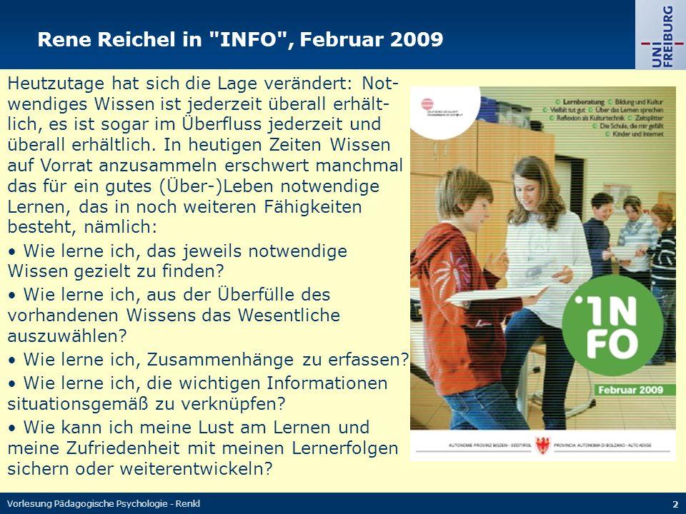 Rene Reichel in INFO , Februar 2009