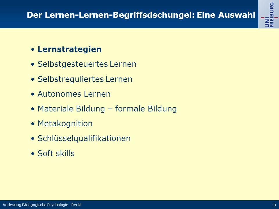 Der Lernen-Lernen-Begriffsdschungel: Eine Auswahl