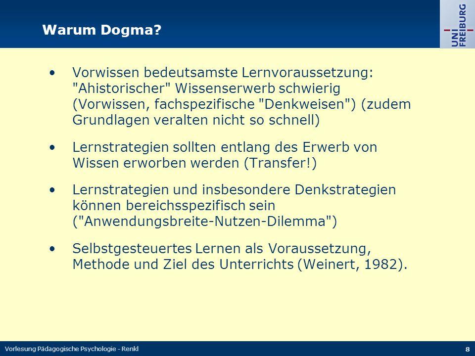 Warum Dogma
