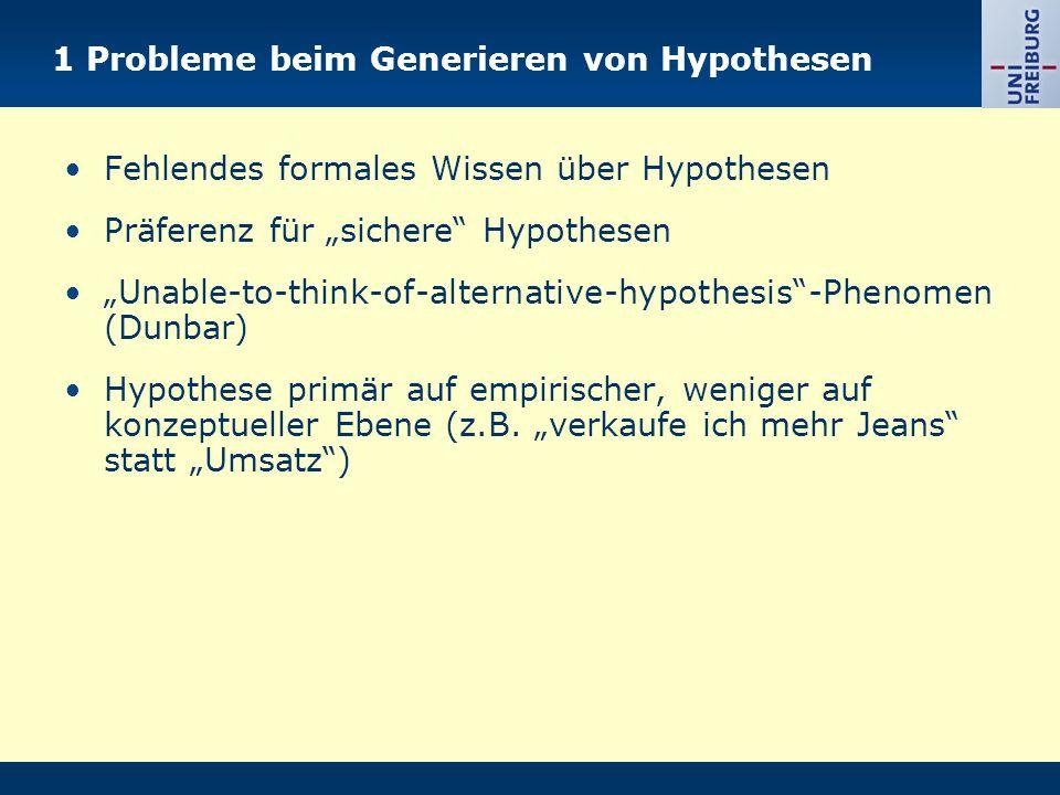 1 Probleme beim Generieren von Hypothesen