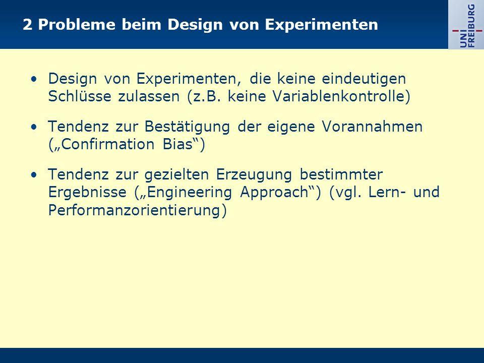 2 Probleme beim Design von Experimenten