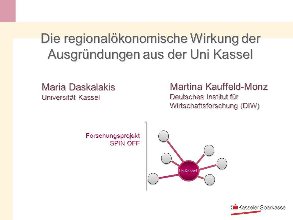 Die regionalökonomische Wirkung der Ausgründungen aus der Uni Kassel