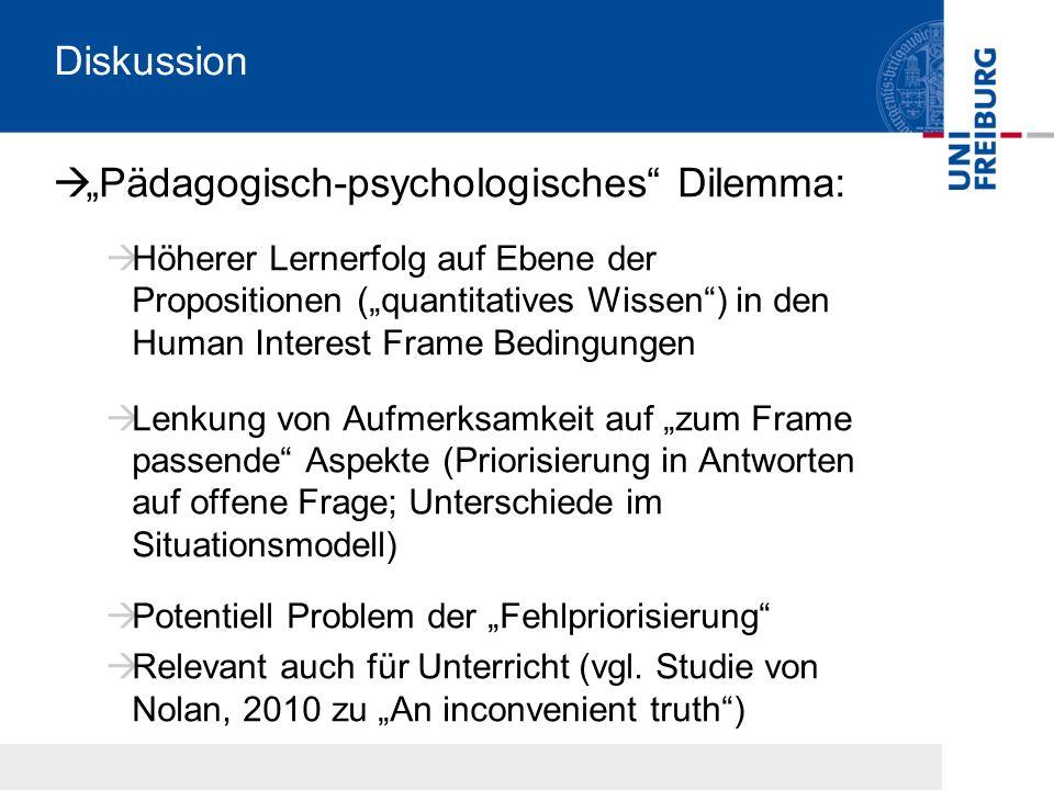 """Pädagogisch-psychologisches Dilemma:"