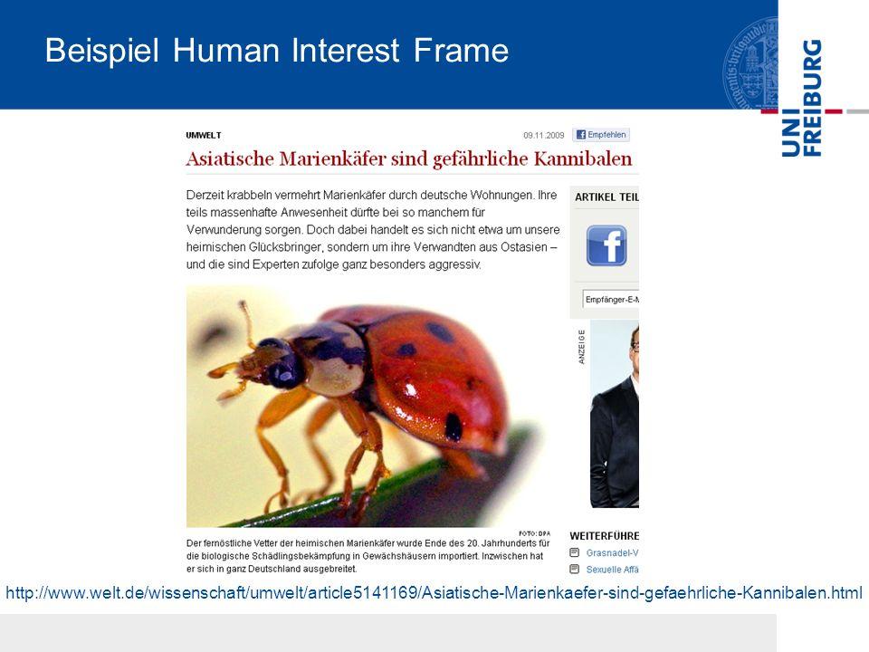 Beispiel Human Interest Frame