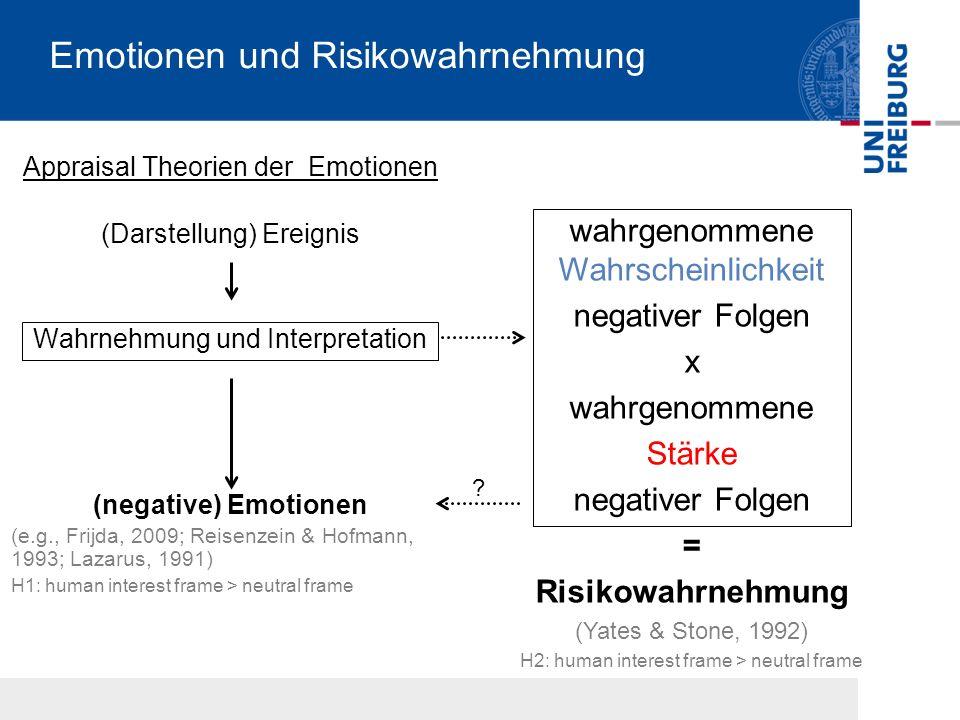 Emotionen und Risikowahrnehmung