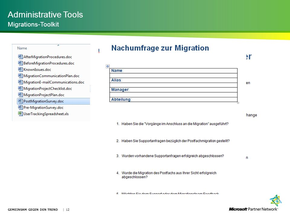 Administrative Tools Migrations-Toolkit