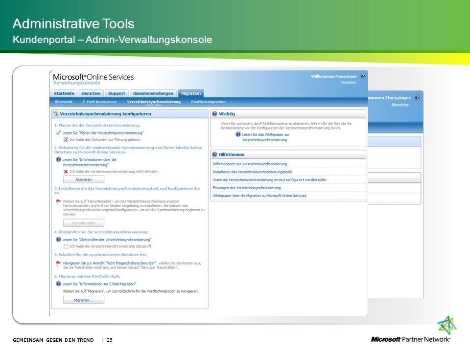 Administrative Tools Kundenportal – Admin-Verwaltungskonsole