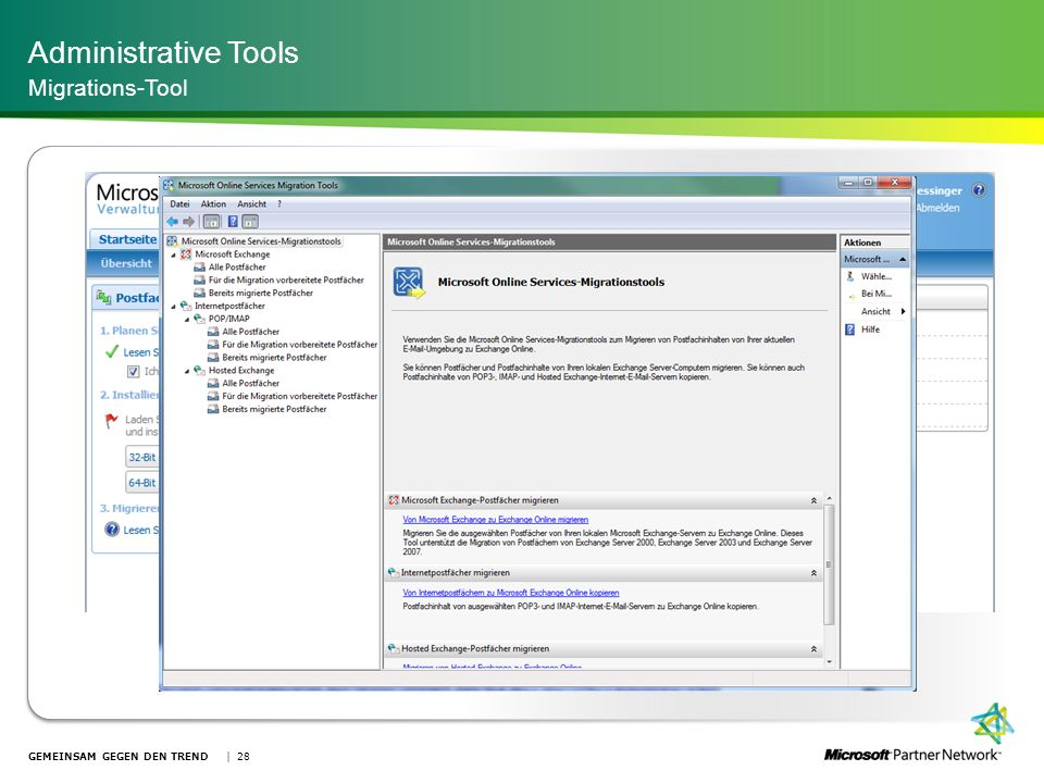 Administrative Tools Migrations-Tool