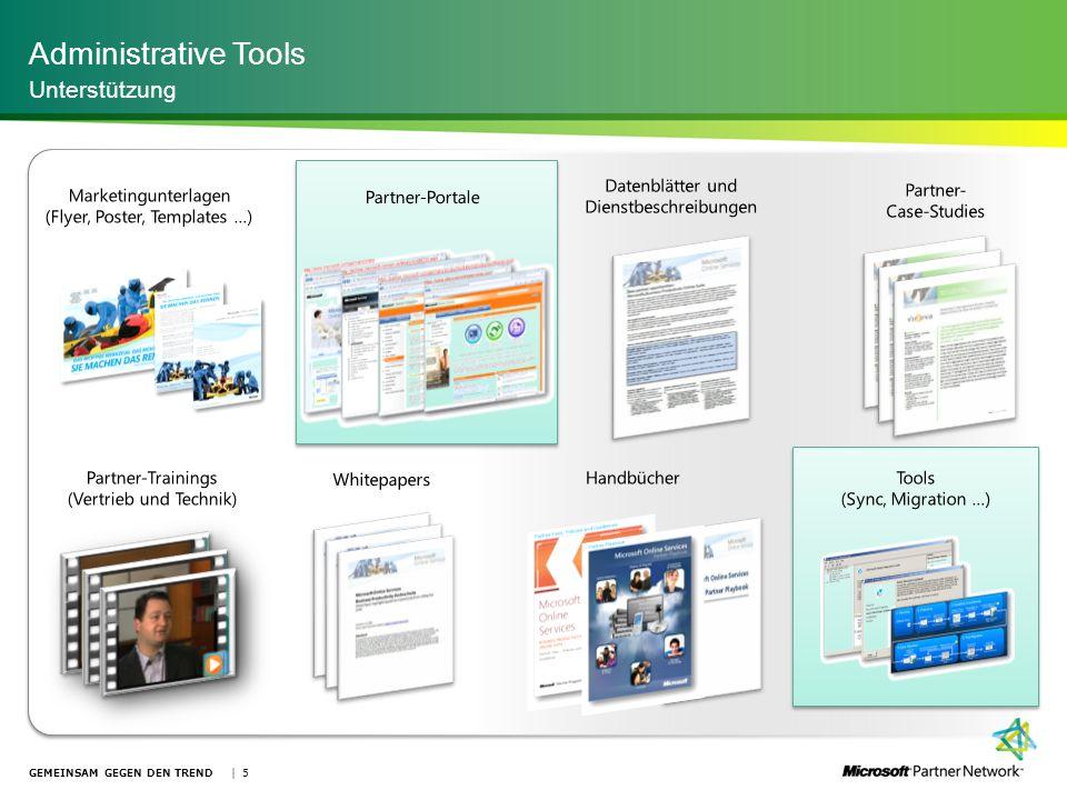 Administrative Tools Unterstützung