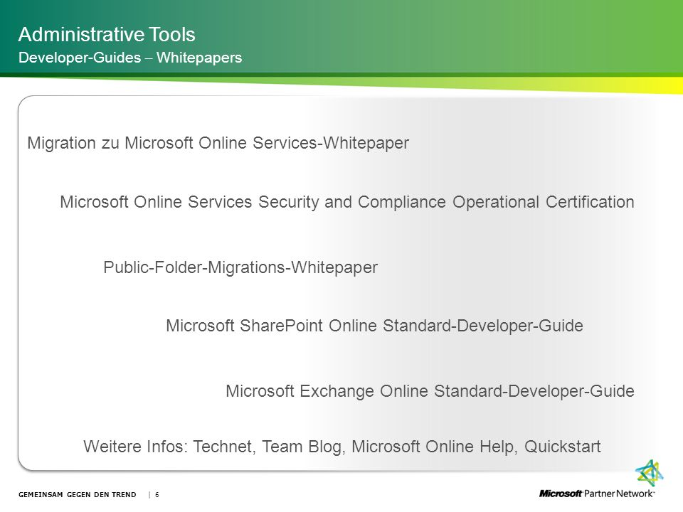 Administrative Tools Migration zu Microsoft Online Services-Whitepaper