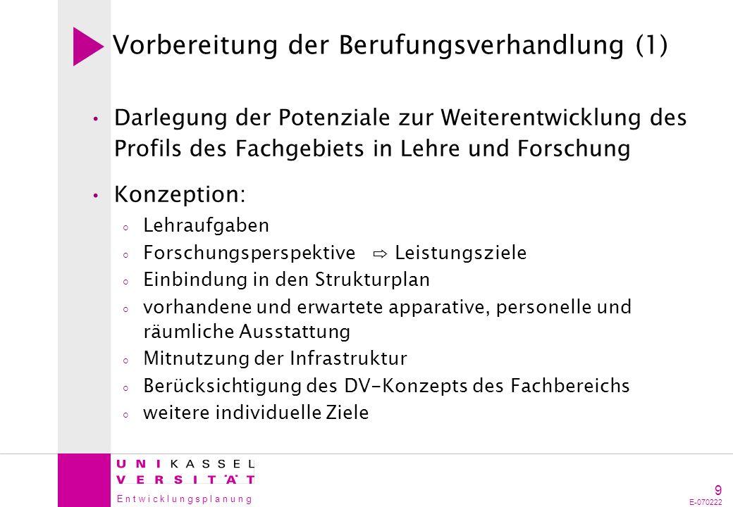 Vorbereitung der Berufungsverhandlung (1)