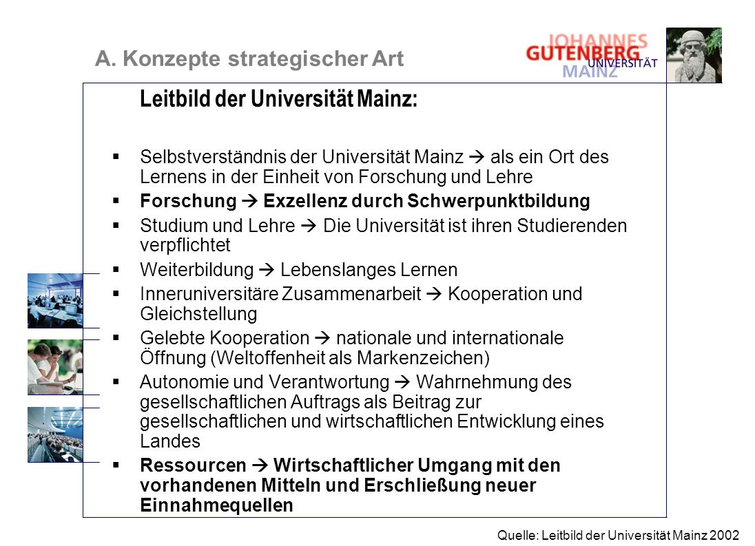 Leitbild der Universität Mainz: