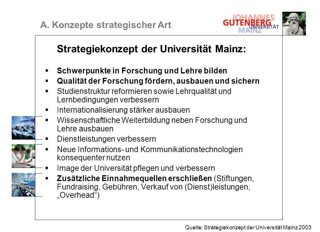 Strategiekonzept der Universität Mainz: