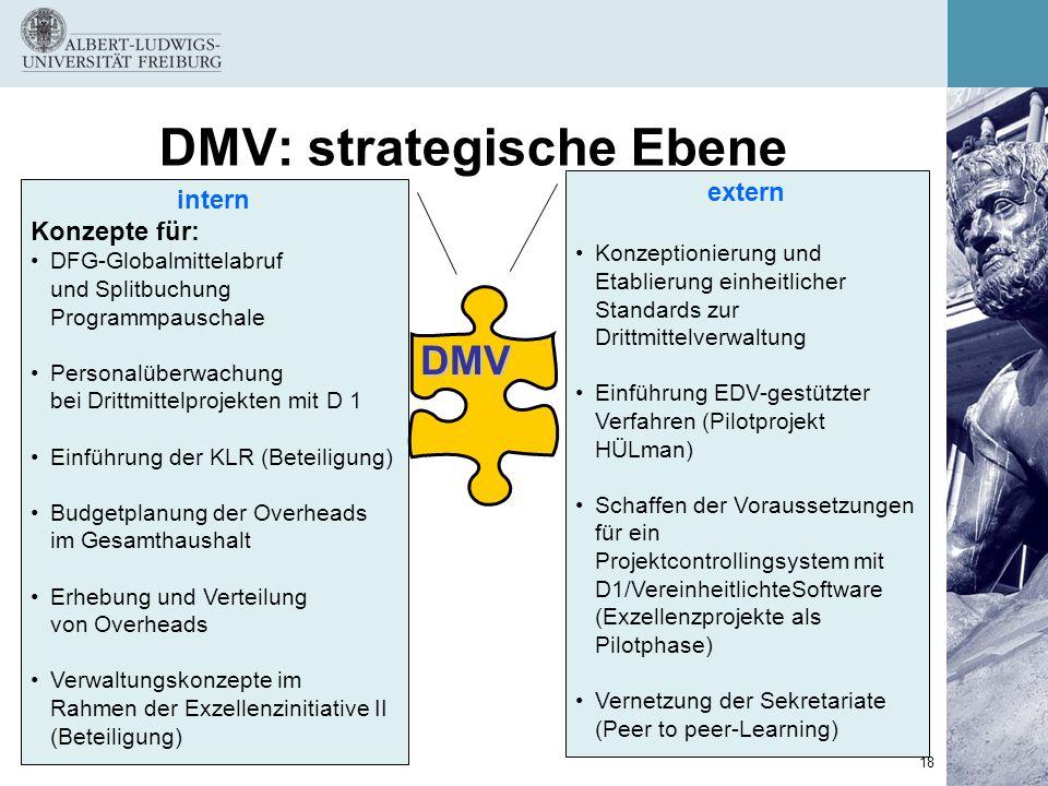 DMV: strategische Ebene