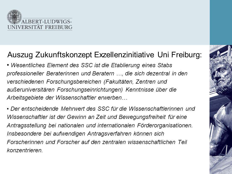 Auszug Zukunftskonzept Exzellenzinitiative Uni Freiburg: