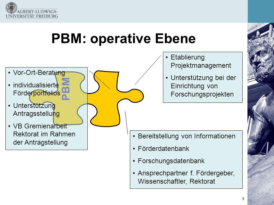 PBM: operative Ebene PBM Etablierung Projektmanagement