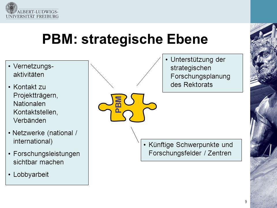 PBM: strategische Ebene