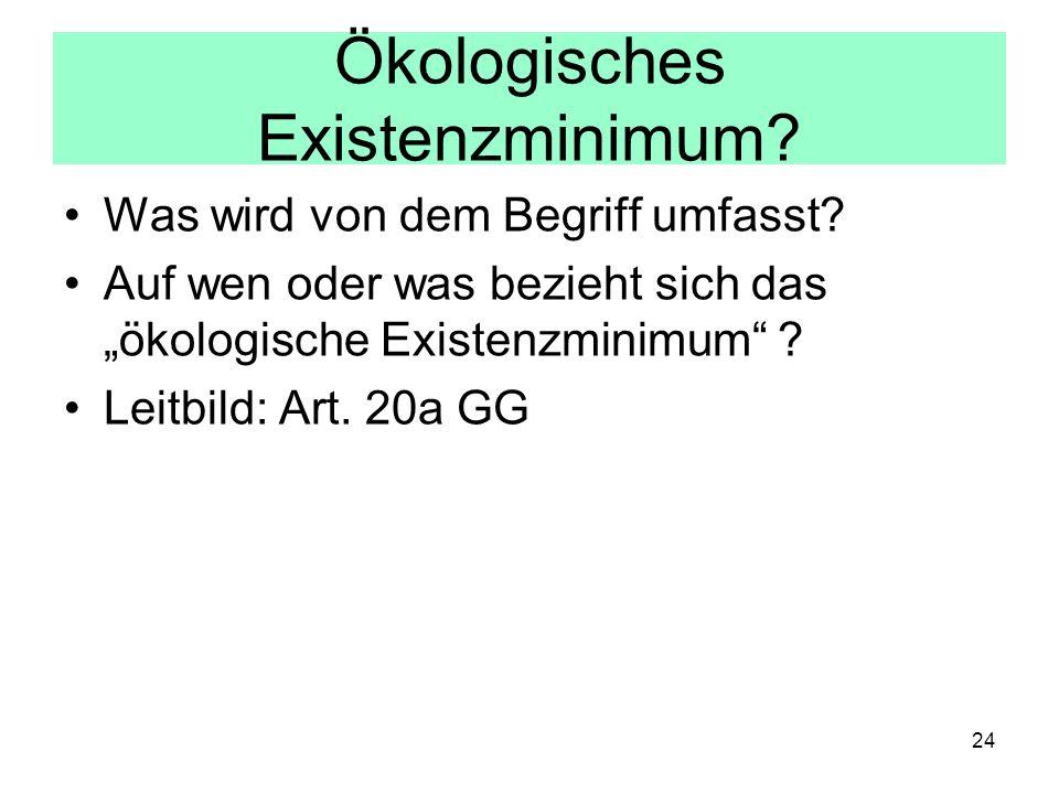 Ökologisches Existenzminimum