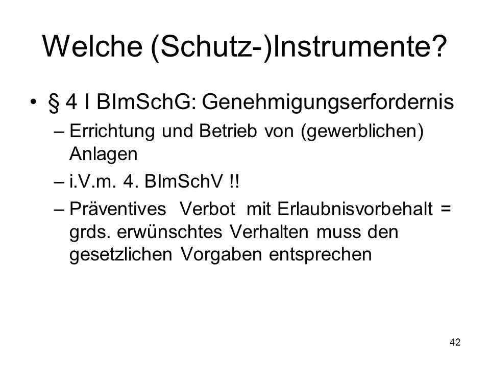 Welche (Schutz-)Instrumente