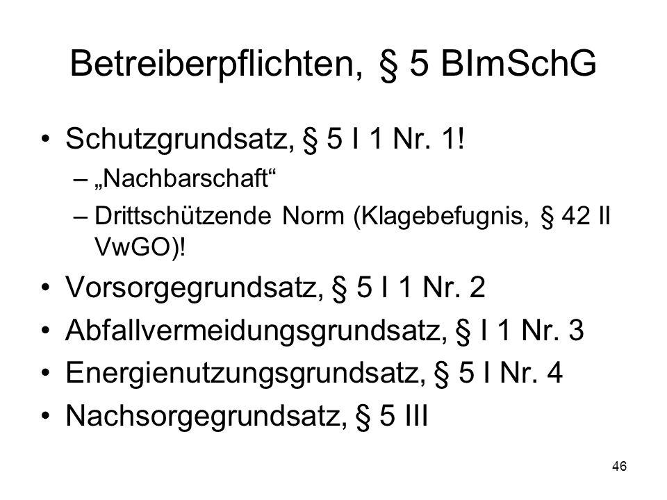 Betreiberpflichten, § 5 BImSchG