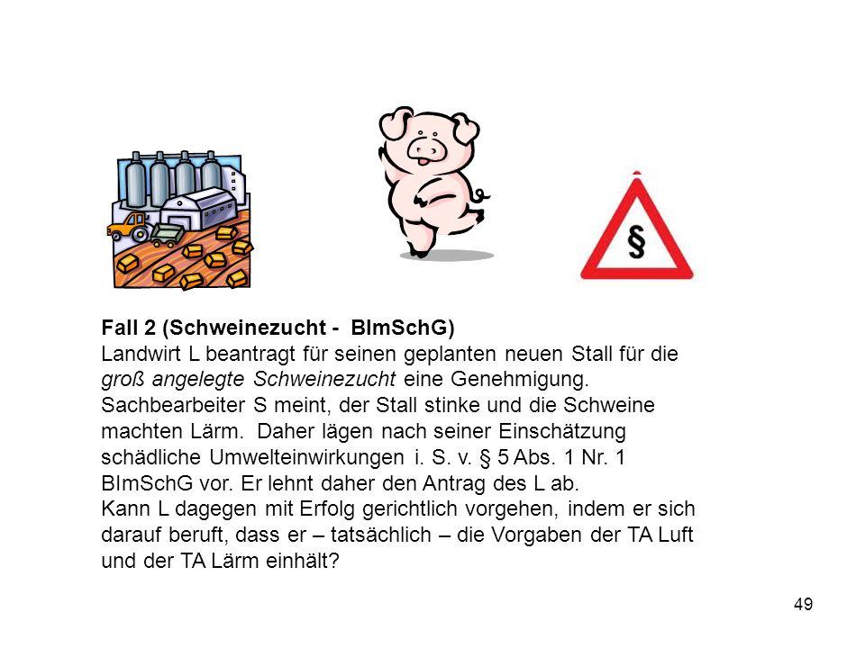 Fall 2 (Schweinezucht - BImSchG)