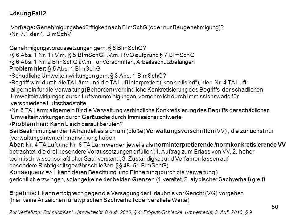 Genehmigungsvoraussetzungen gem. § 6 BImSchG