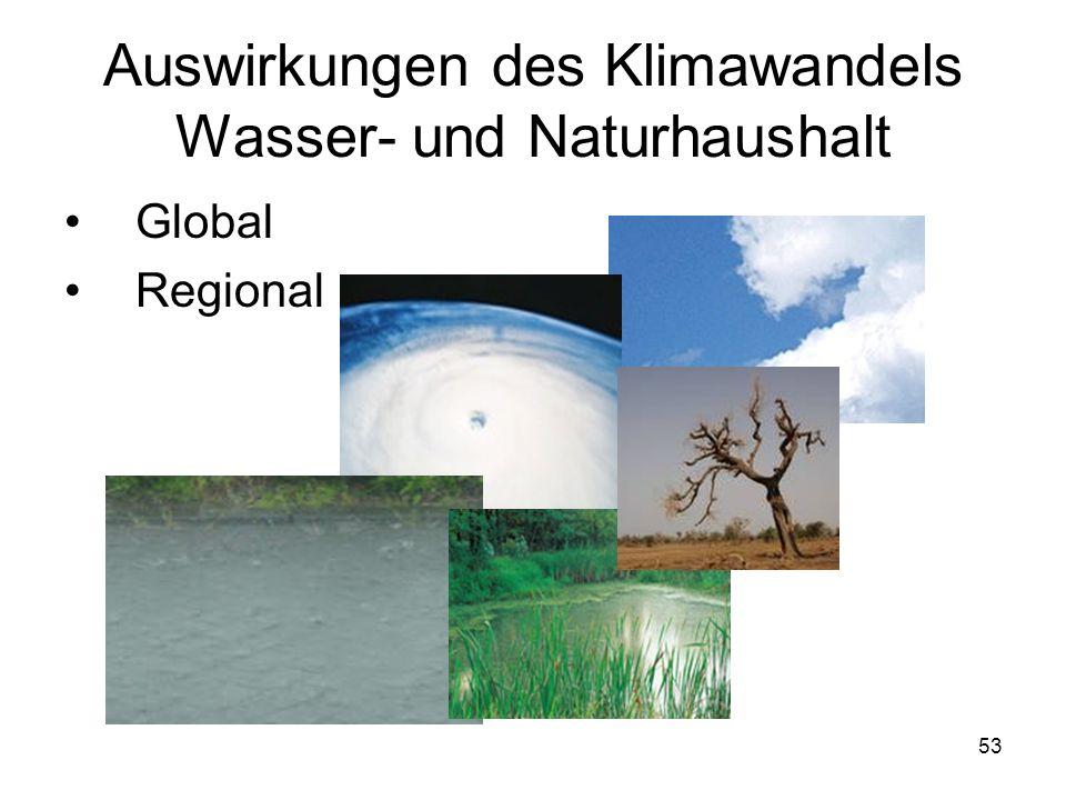 Auswirkungen des Klimawandels Wasser- und Naturhaushalt