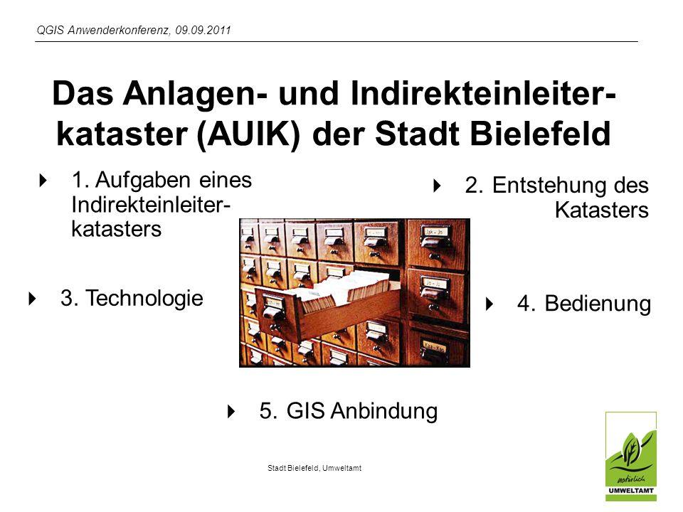 Das Anlagen- und Indirekteinleiter-kataster (AUIK) der Stadt Bielefeld