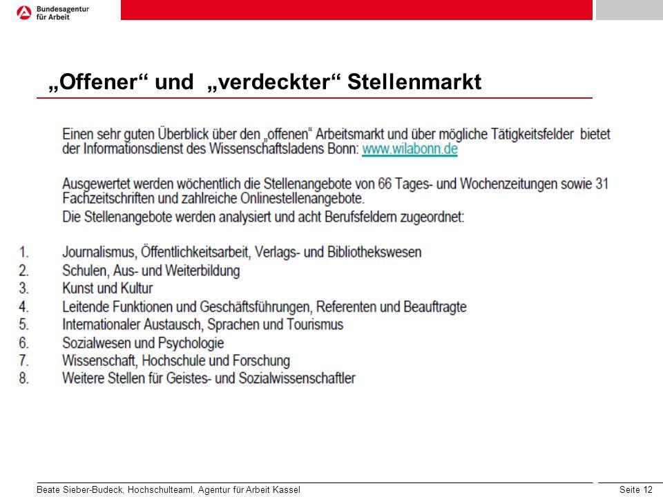 """""""Offener und """"verdeckter Stellenmarkt"""