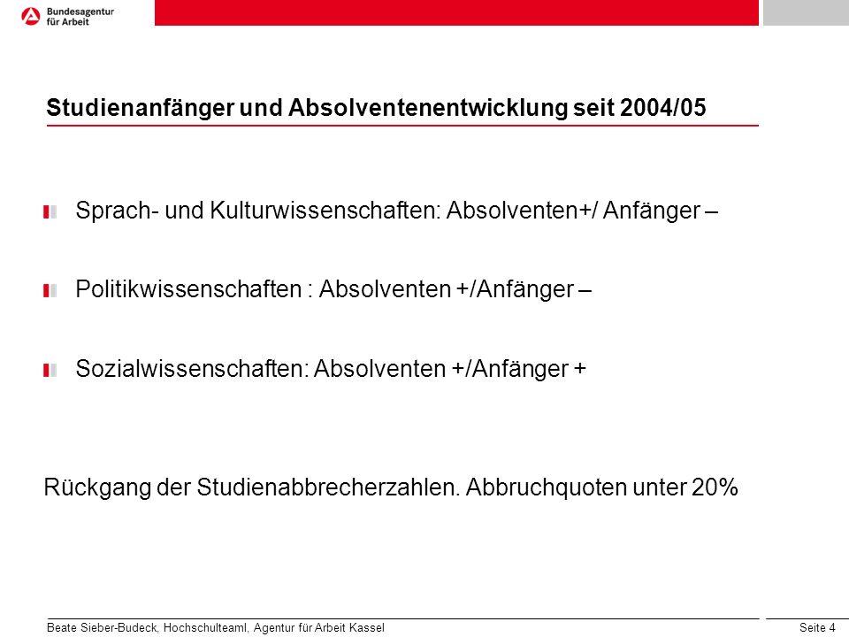 Studienanfänger und Absolventenentwicklung seit 2004/05