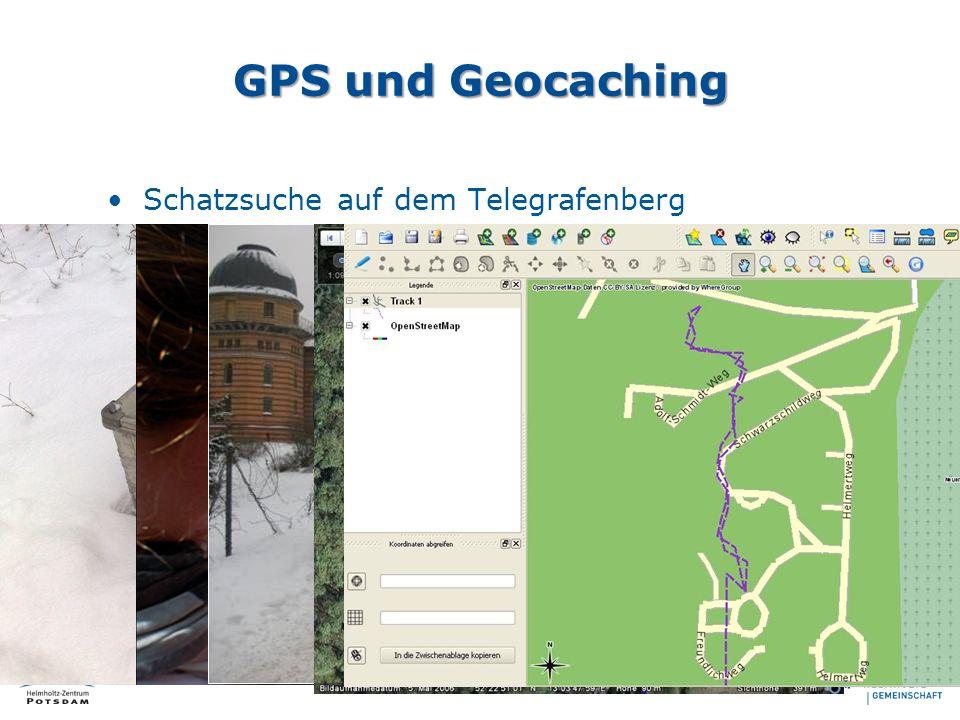 GPS und Geocaching Schatzsuche auf dem Telegrafenberg