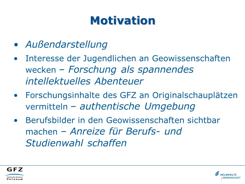Motivation Außendarstellung