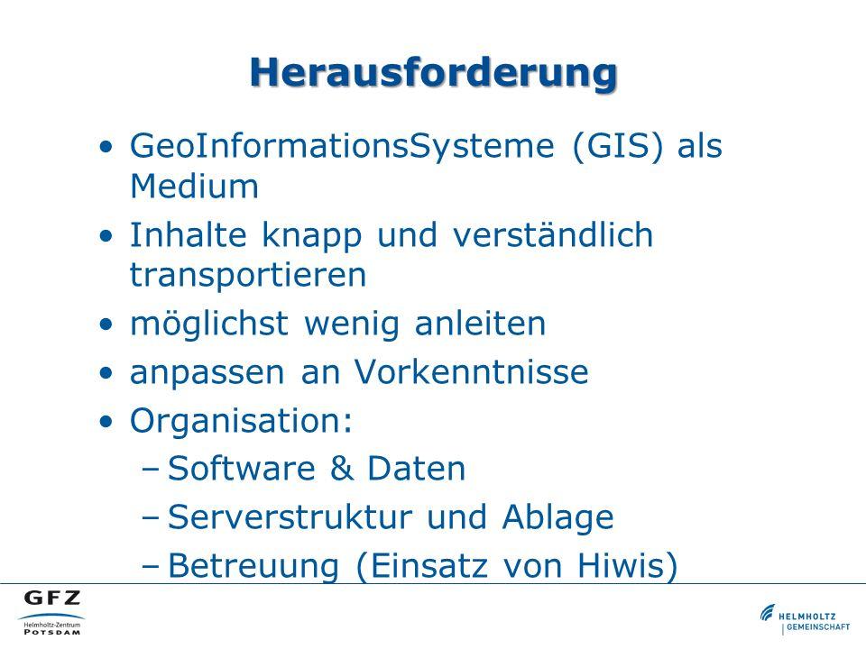 Herausforderung GeoInformationsSysteme (GIS) als Medium