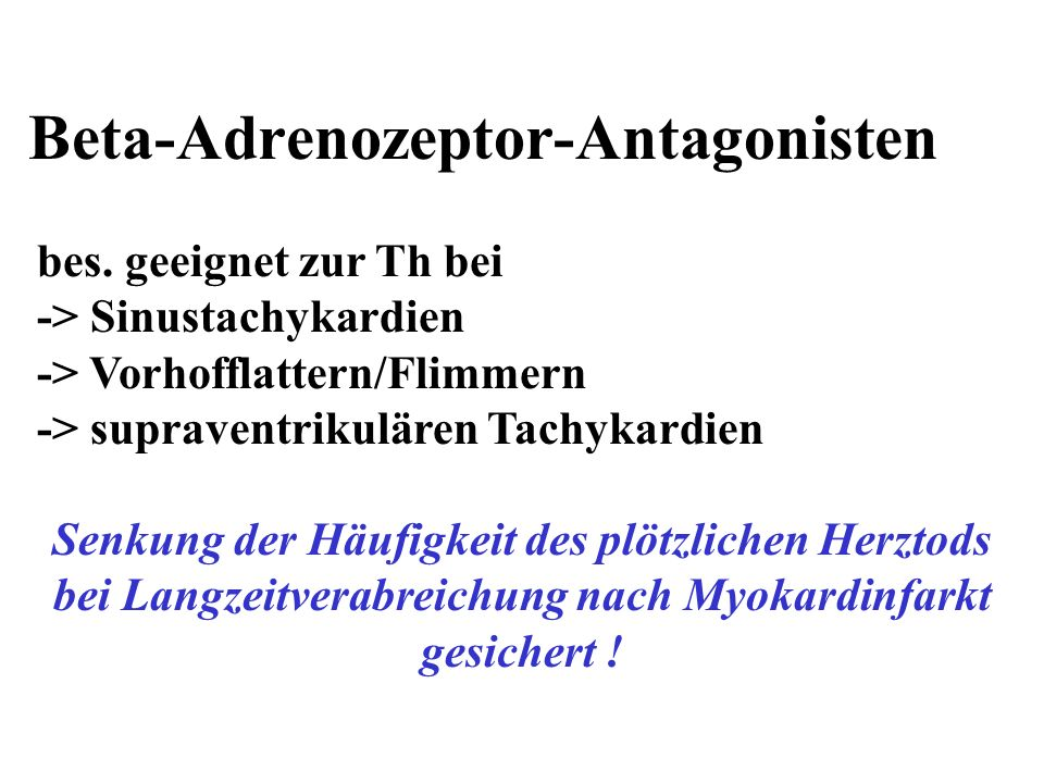 Beta-Adrenozeptor-Antagonisten