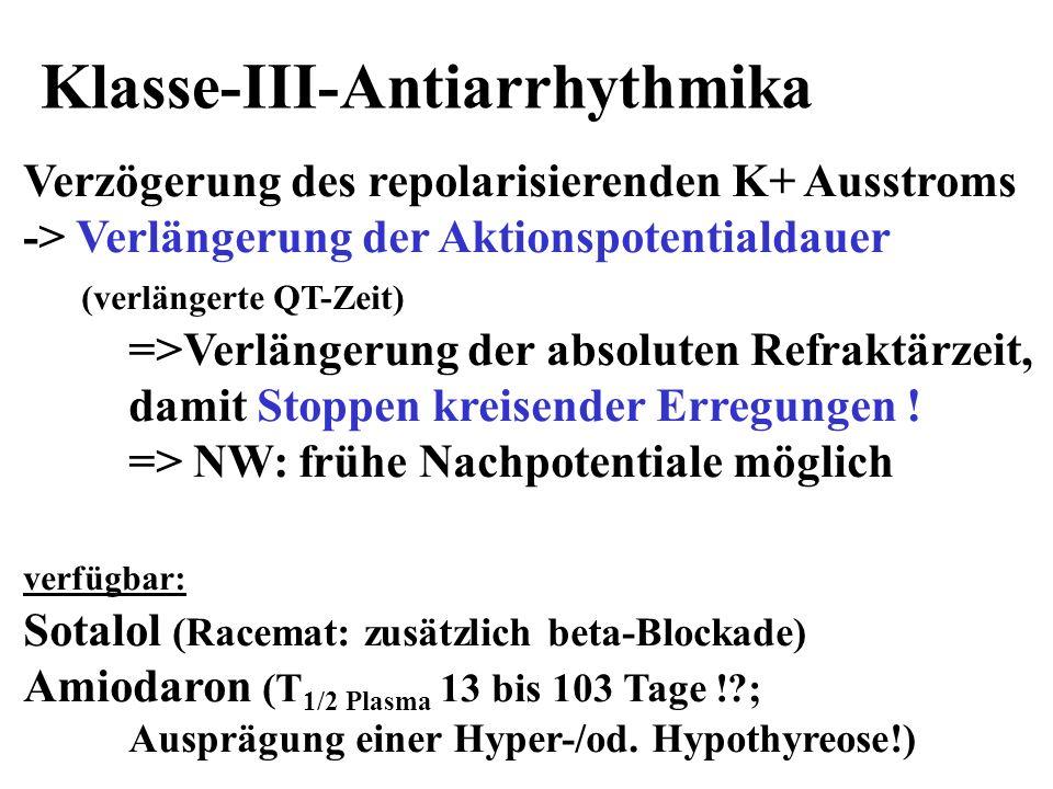 Klasse-III-Antiarrhythmika