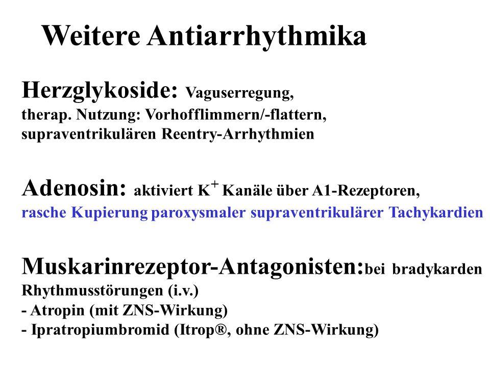 Weitere Antiarrhythmika