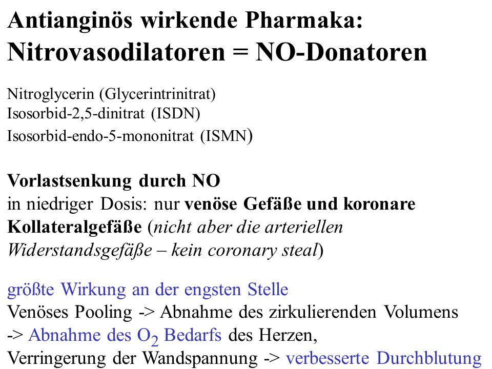Nitrovasodilatoren = NO-Donatoren