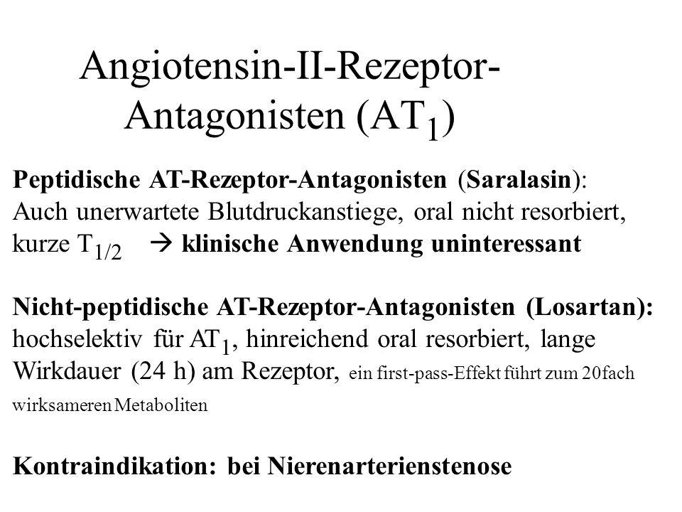Angiotensin-II-Rezeptor-Antagonisten (AT1)