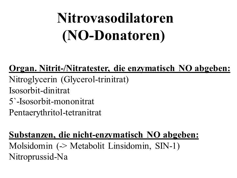 Nitrovasodilatoren (NO-Donatoren)
