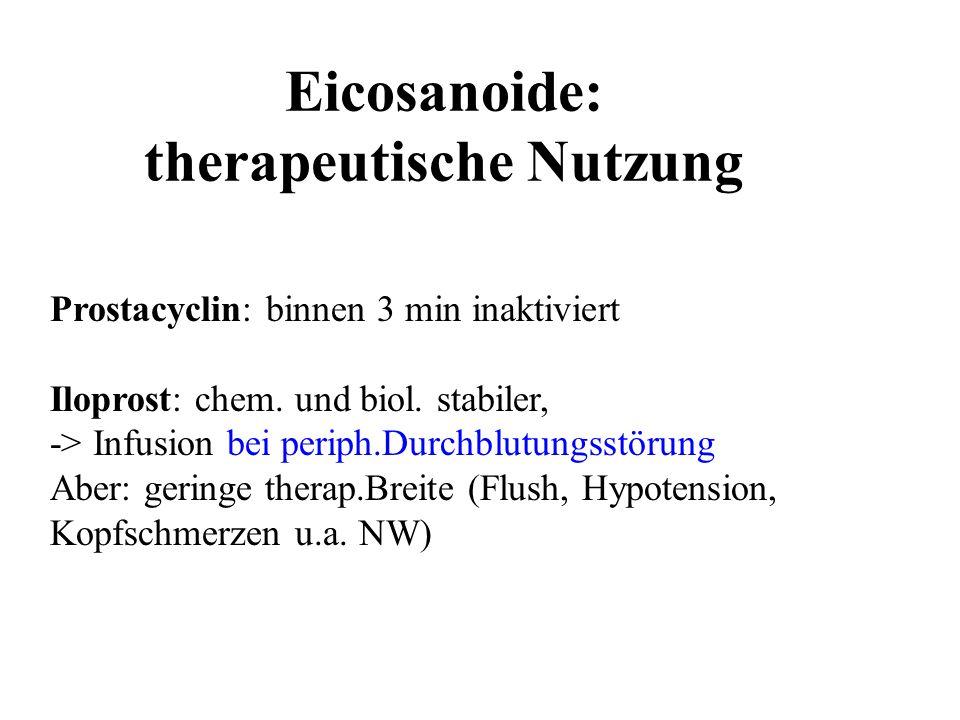 Eicosanoide: therapeutische Nutzung
