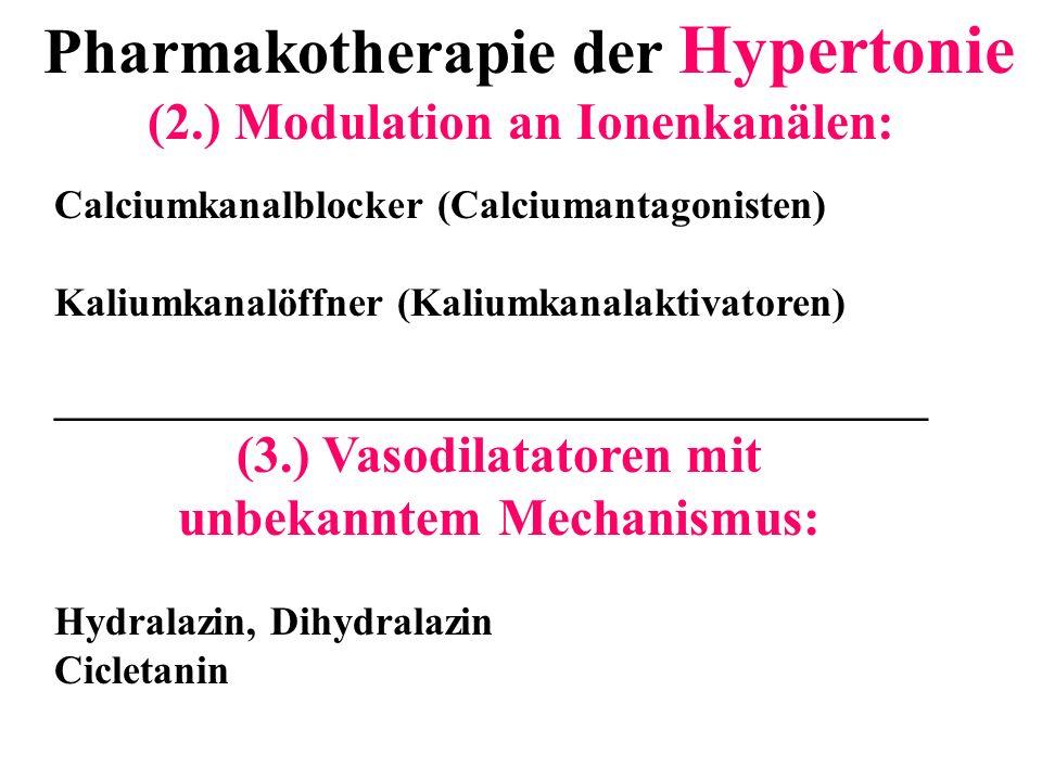 Pharmakotherapie der Hypertonie