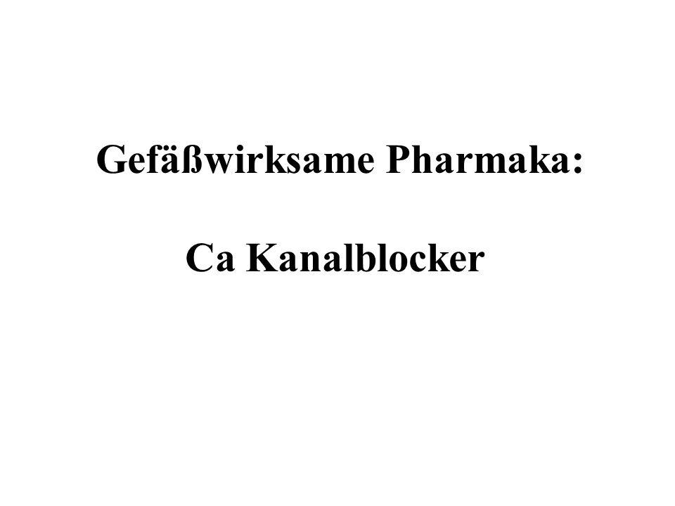 Gefäßwirksame Pharmaka: