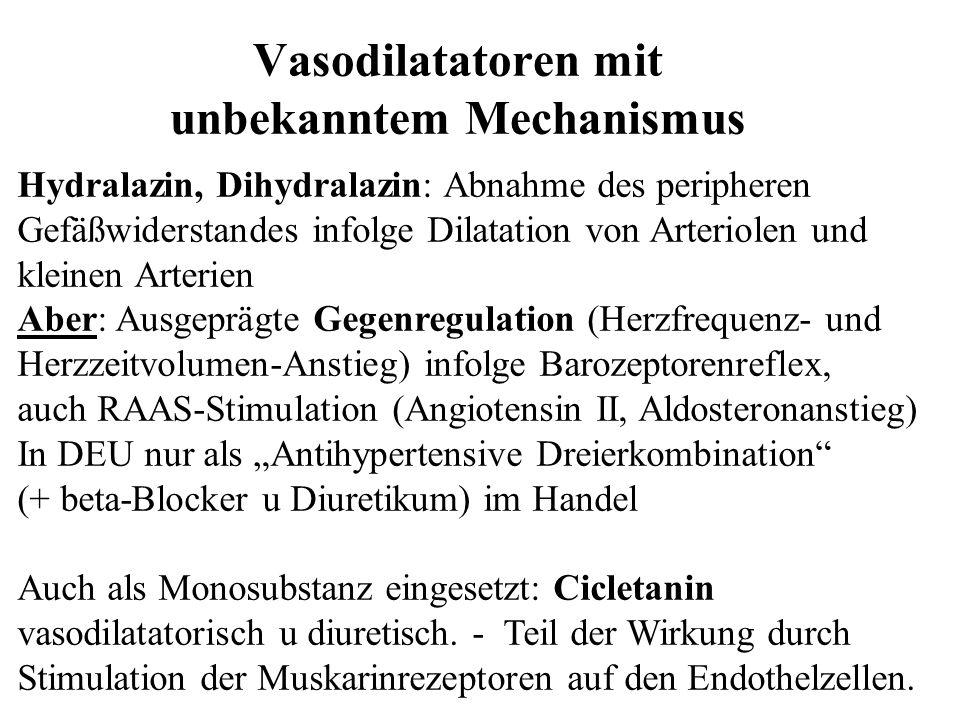 Vasodilatatoren mit unbekanntem Mechanismus