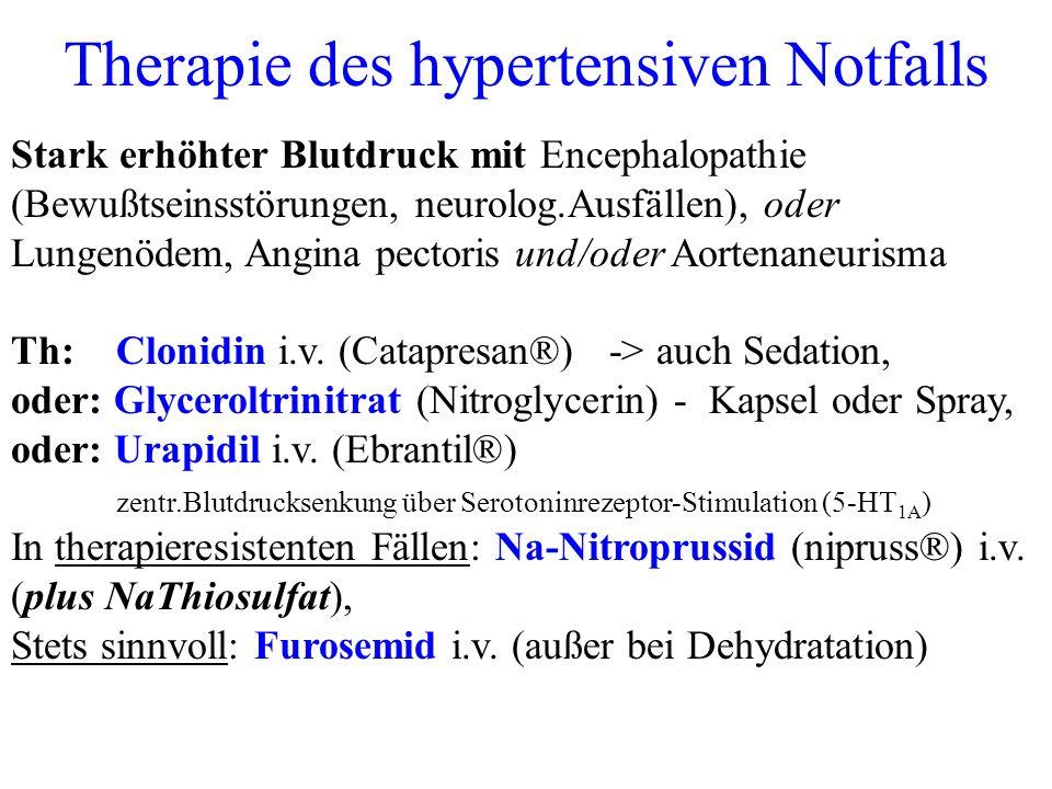 Therapie des hypertensiven Notfalls