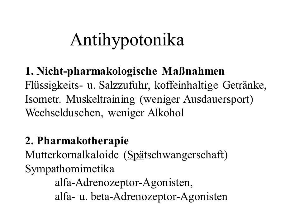 Antihypotonika 1. Nicht-pharmakologische Maßnahmen