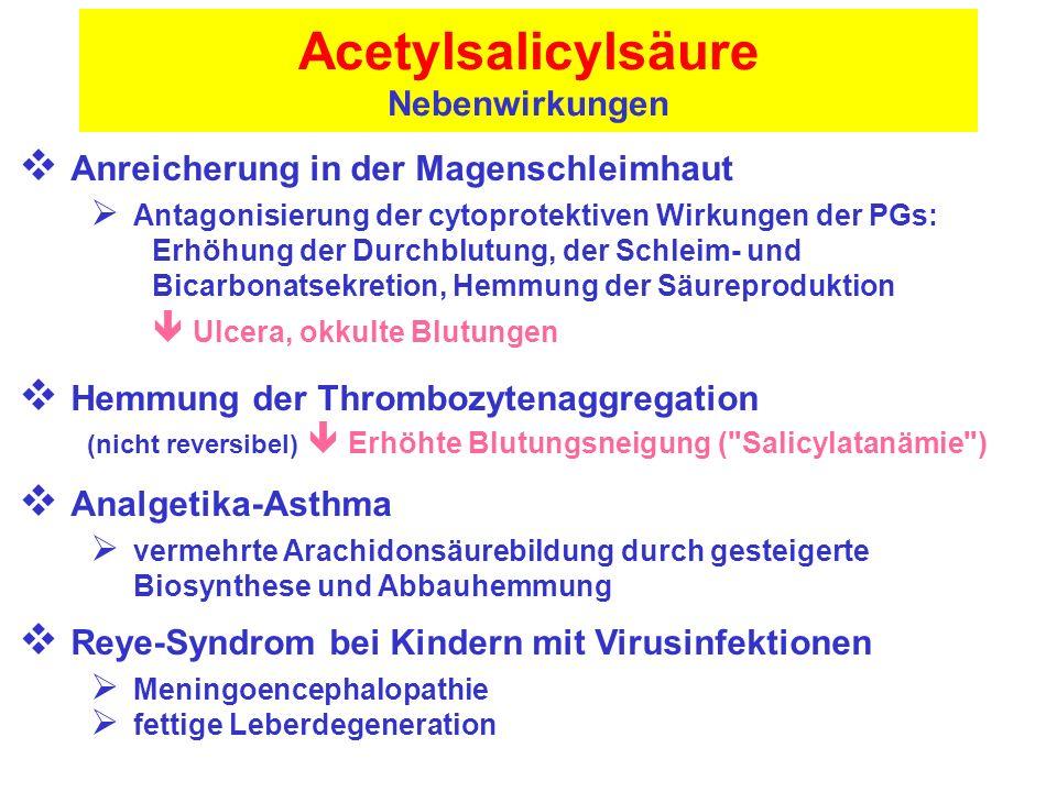 Acetylsalicylsäure Nebenwirkungen
