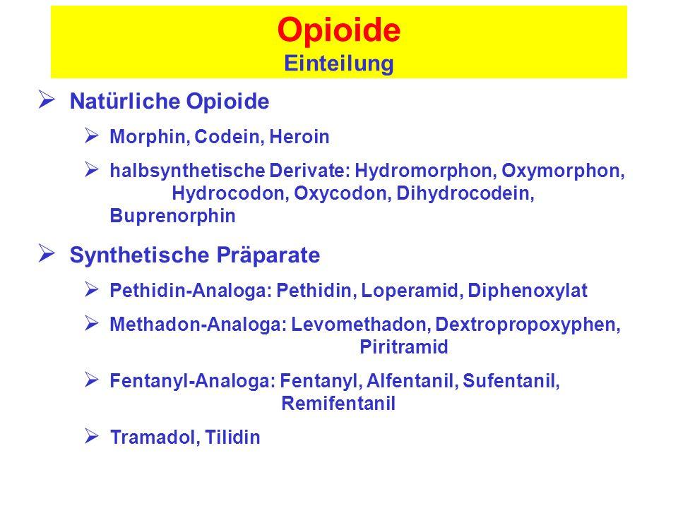Opioide Einteilung Natürliche Opioide Synthetische Präparate